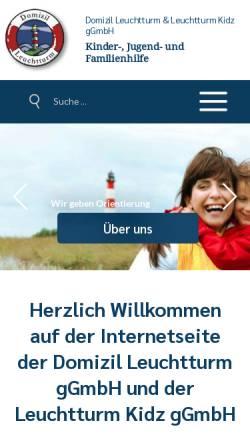 Vorschau der mobilen Webseite domizilleuchtturm.de, Domizil Leuchtturm GmbH