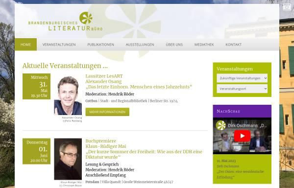 Vorschau von www.literaturlandschaft.de, Brandenburgische Literaturlandschaft e.V.