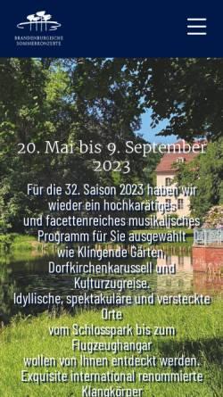 Vorschau der mobilen Webseite www.brandenburgische-sommerkonzerte.org, Brandenburgische Sommerkonzerte gGmbH