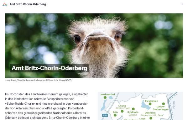 Vorschau von britz-chorin-oderberg.de, Amt Britz - Chorin - Oderberg