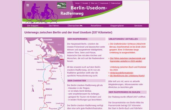 Vorschau von www.barnimradler.de, Radttouren im Barnimer Land - IS.Radweg.Informationsservice Detlef Kaden