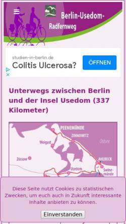 Vorschau der mobilen Webseite www.barnimradler.de, Radttouren im Barnimer Land - IS.Radweg.Informationsservice Detlef Kaden