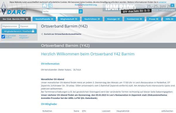 Vorschau von www.darc.de, Amateurfunk-Ortsverband Barnim Y42 im DARC e.V.
