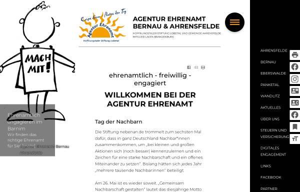Vorschau von www.ehrenamt-barnim.de, Agentur Ehrenamt Barnim - Hoffnungstaler Stiftung Lobetal