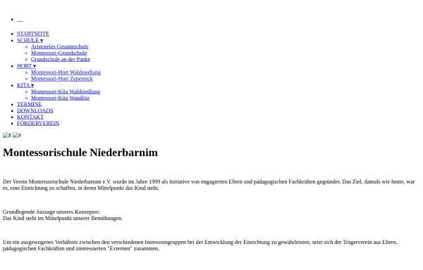Vorschau von montessori-niederbarnim.de, Aristoteles-Gesamtschule - Montessorischule Niederbarnim e.V.