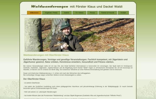 Vorschau von www.waldwanderungen.de, Waldwanderungen - Foerster Klaus