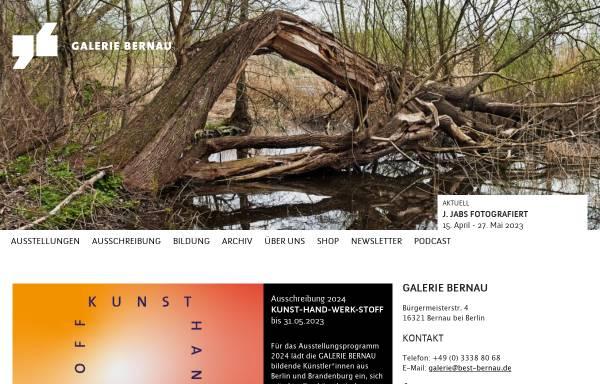 Vorschau von www.galerie-bernau.de, Galerie Bernau - BeSt Bernauer Stadtmarketing GmbH