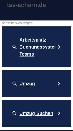 Vorschau der mobilen Webseite www.tsv-achern.de, Tierschutzverein Achern und Umgebung e.V.