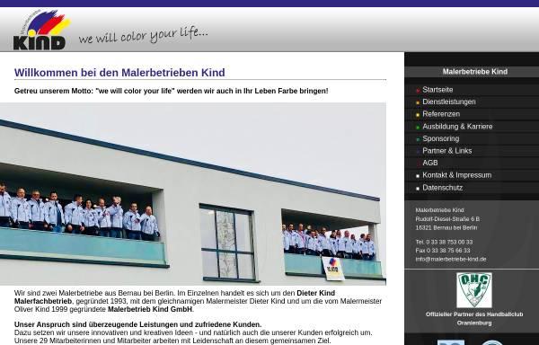 Vorschau von www.malerbetriebe-kind.de, Malerbetrieb Kind GmbH