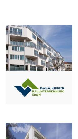 Vorschau der mobilen Webseite www.krueger-holding.com, Krüger Holding GmbH & Co. KG