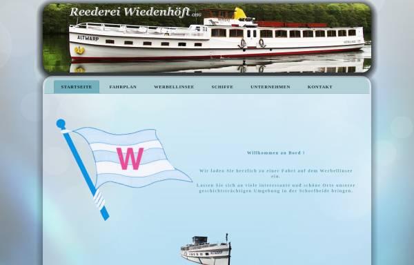 Vorschau von www.reederei-wiedenhoeft.de, Fahrgastschifffahrt Werbellinsee - Reederei Wiedenhöft OHG