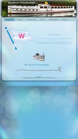 Vorschau der mobilen Webseite www.reederei-wiedenhoeft.de, Fahrgastschifffahrt Werbellinsee - Reederei Wiedenhöft OHG