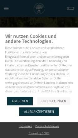 Vorschau der mobilen Webseite www.ringhotel-schorfheide.de, Ringhotel Schorfheide, Tagungszentrum der Wirtschaft - Schorfheider Dienstleistungs GmbH
