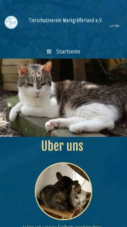 Vorschau der mobilen Webseite www.tierschutzverein-markgraeflerland.de, Tierschutzverein Markgräflerland e.V.