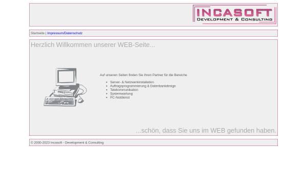 Vorschau von www.incasoft.de, Incasoft M. Dräger und J. Schlößin
