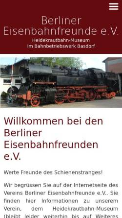 Berliner Eisenbahnfreunde Ev Und Fördervereins Heidekrautbahn Ev