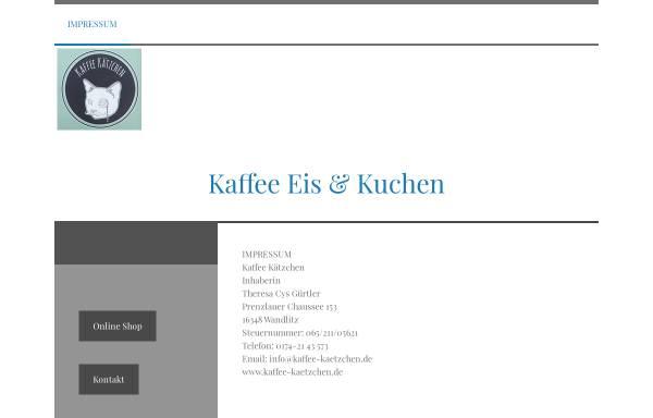 Vorschau von www.kaffee-kaetzchen.de, Kaffee Kätzchen - Inh. Theresa Cys