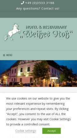 Vorschau der mobilen Webseite www.hotel-elsterwerda.de, Hotel Weißes Ross - Strehle und Lippitsch GbR