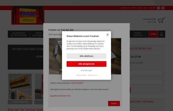 Vorschau von www.leuchtkasten.info, LoGo! ...ihr werbetechnik-discounter GmbH
