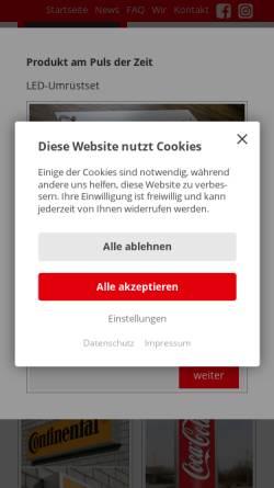 Vorschau der mobilen Webseite www.leuchtkasten.info, LoGo! ...ihr werbetechnik-discounter GmbH