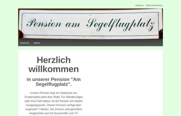 Vorschau von www.pension-am-segelflugplatz.de, Pension Am Segelflugplatz - Inh. Gabriela Zenker