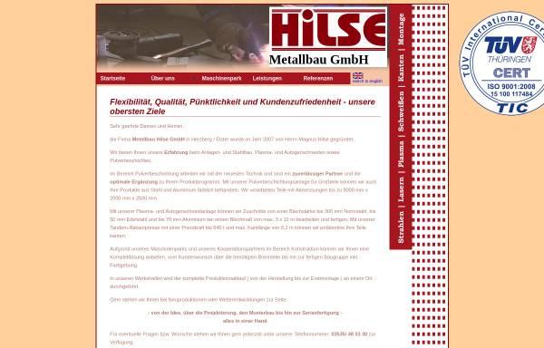 Vorschau von www.metallbau-hilse.de, Metallbau Hilse GmbH