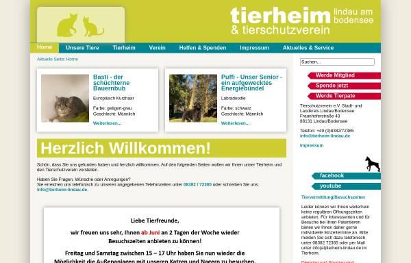 Vorschau von tierheim-lindau.de, Tierschutzverein e.V. Stadt und Landkreis Lindau/Bodensee