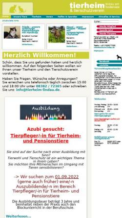 Vorschau der mobilen Webseite tierheim-lindau.de, Tierschutzverein e.V. Stadt und Landkreis Lindau/Bodensee