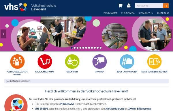 Vorschau von vhs-havelland.de, Musik-, Kunst- und Volkshochschule Havelland
