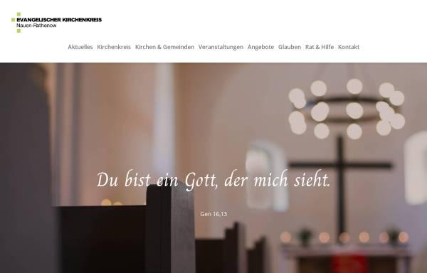 Vorschau von www.ev-kirchen-havelland.de, Evangelischer Kirchenkreis Nauen-Rathenow