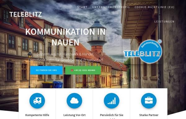 Vorschau von www.teleblitz.de, Manteufel-Telefonanlagen