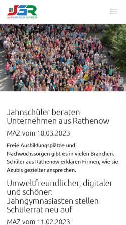 Vorschau der mobilen Webseite jahngymnasium-rathenow.de, Friedrich-Ludwig-Jahn-Gymnasium Rathenow