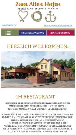 Vorschau der mobilen Webseite www.zum-alten-hafen.de, Zum Alten Hafen