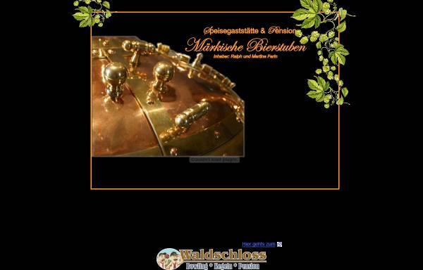 Vorschau von www.maerkische-bierstuben.de, Speisegaststätte und Pension - Märkische Bierstuben