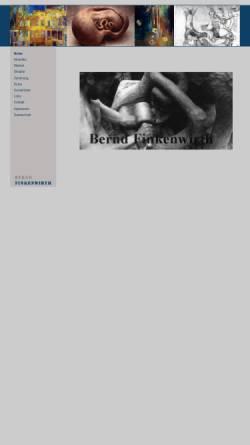 Vorschau der mobilen Webseite www.bernd-finkenwirth.de, Künstler Bernd Finkenwirth