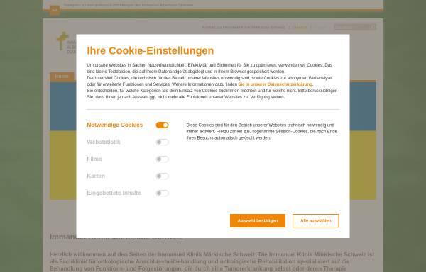 Vorschau von buckow.immanuel.de, Immanuel Klinik Märkische Schweiz - Immanuel Diakonie GmbH
