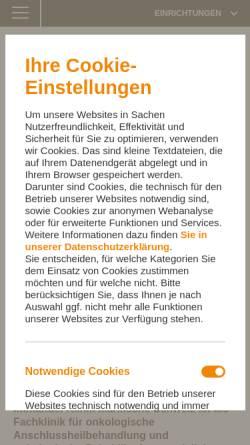 Vorschau der mobilen Webseite buckow.immanuel.de, Immanuel Klinik Märkische Schweiz - Immanuel Diakonie GmbH