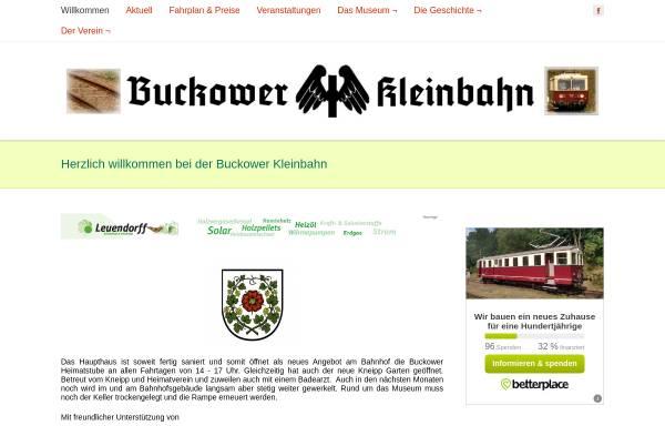 Vorschau von www.buckower-kleinbahn.de, Museumsbahn Buckower Kleinbahn e. V.