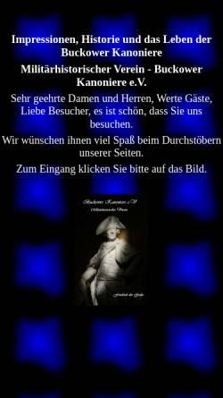 Vorschau der mobilen Webseite www.buckower-kanoniere.de, Buckower Kanoniere e.V.