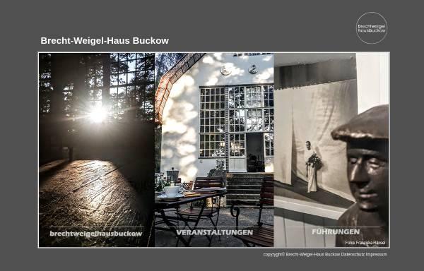 Vorschau von www.brechtweigelhaus.de, Brecht-Weigel-Haus Buckow - Gemeinnützige Kultur GmbH MOL