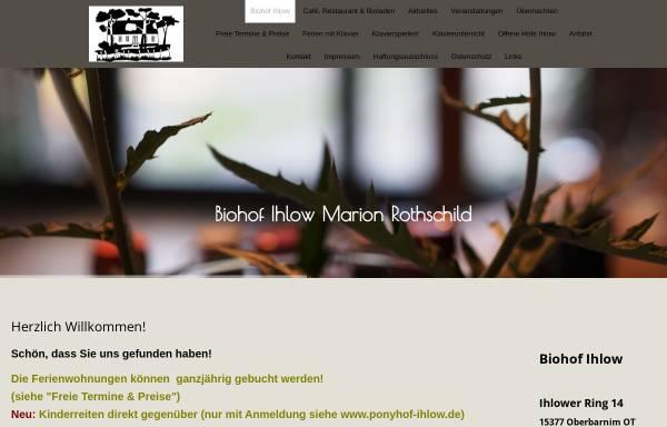 Vorschau von www.biohof-ihlow.de, Biohof Ihlow - Marion Rothschild