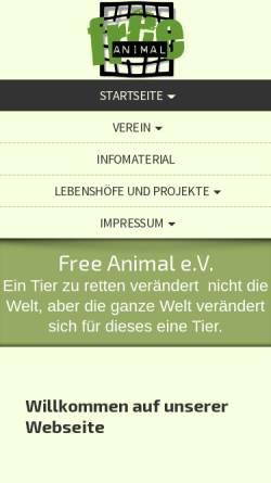 Vorschau der mobilen Webseite www.freeanimal.de, Free Animal
