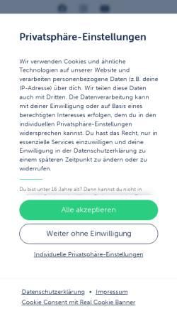 Vorschau der mobilen Webseite www.erkner-gruppe.de, Siegfried Erkner & Sohn GmbH