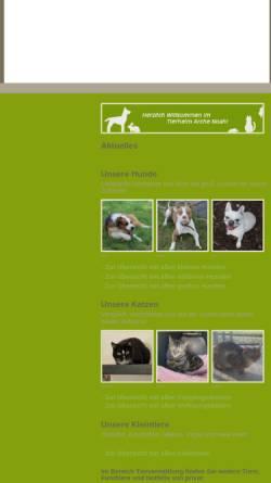 Vorschau der mobilen Webseite tierheim-arche-noah.bmtev.de, Tierheim Arche Noah Bremen