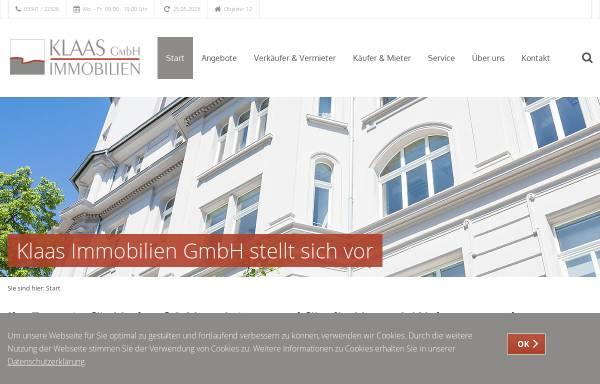 Vorschau von www.klaasimmobilien.de, Klaas Immobilien GmbH