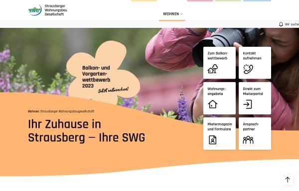 Vorschau von www.swg-strausberg.de, Strausberger Wohnungsbau Gesellschaft mbH