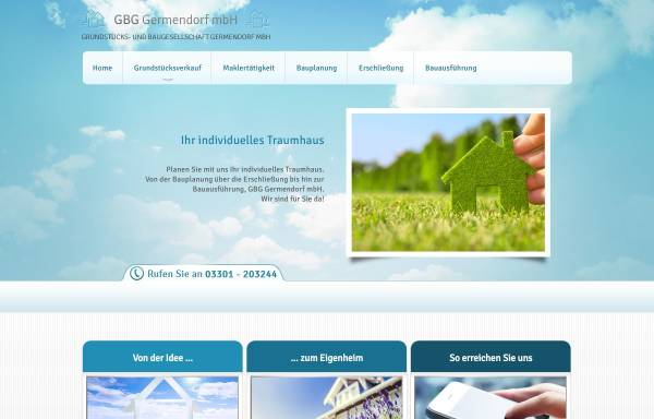 Vorschau von www.gbg-germendorf.de, GBG Germendorf mbH