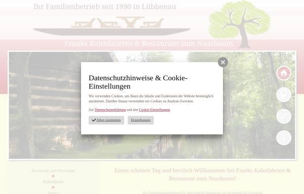 Vorschau von kahnfahrten.net, Franks Kahnfahrten und Restaurant zum Nussbaum - Inh. Frank Richter