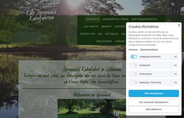 Vorschau von www.kaiskahn.de, Kai Spreewald Kahnfahrten - Inh. Kai Turian