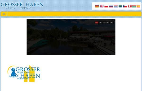 Vorschau von www.grosser-kahnhafen.de, Grosser Spreewaldhafen Lübbenau - Kahnfährgenossenschaft Lübbenau & Umgebung eG